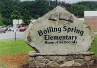 Boiling Springs sign - click to enlarge