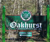 Oakhurst wood sign -click to enlarge